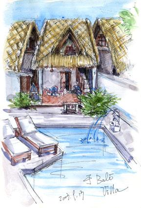 巴厘岛库塔手绘地图图片;